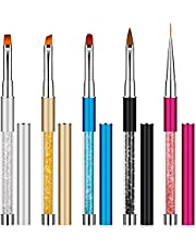 Nail Art Borstel Pen Gel Nails Schilderen Pen Nail Art Liner Penseel Pen Set met Kristallen voor DIY Nail Art 5 Pack