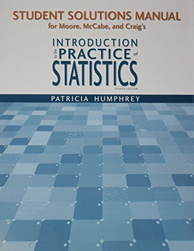 Student Study Guide with Solutions Manual for Introduction to the Practice of Statistics