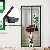 Magnetic Screen Door, Hip2cart Screen Door Magnets Heavy Duty Reinforced Mesh Full Frame Velcro Fits Door Size up to 35×82 Inch