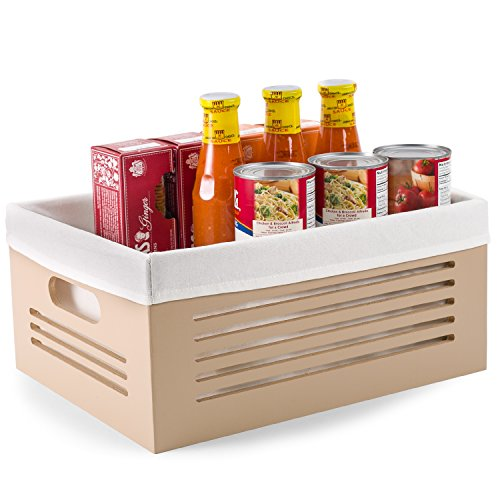 Wooden Storage Bin Containers - Decorative