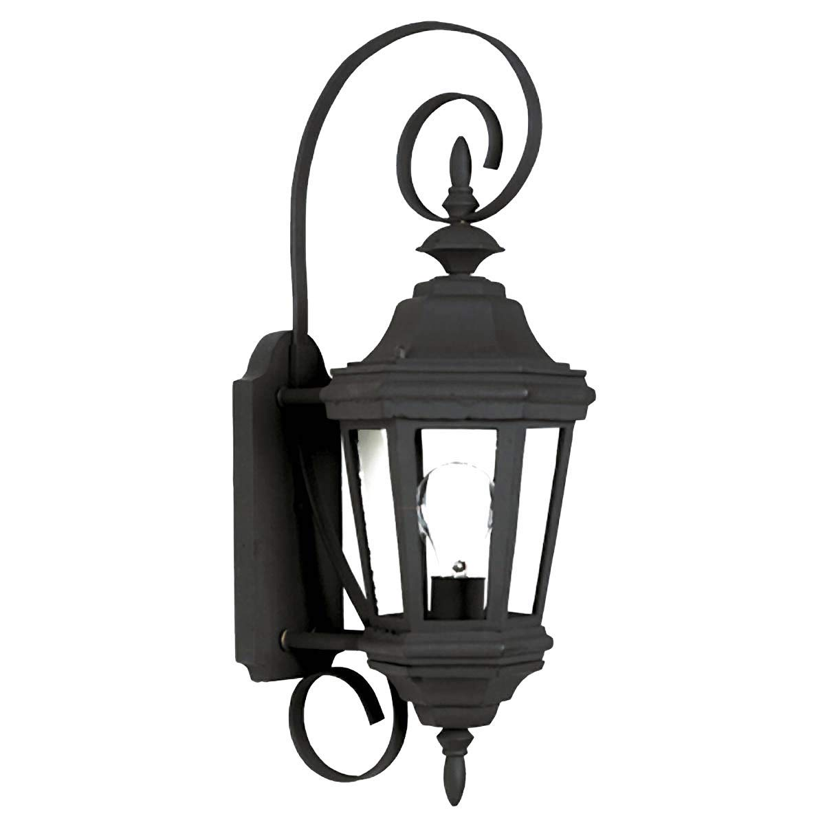 Kenroy Home 16312BL Estate 1-Light Small Wall Lantern, Black