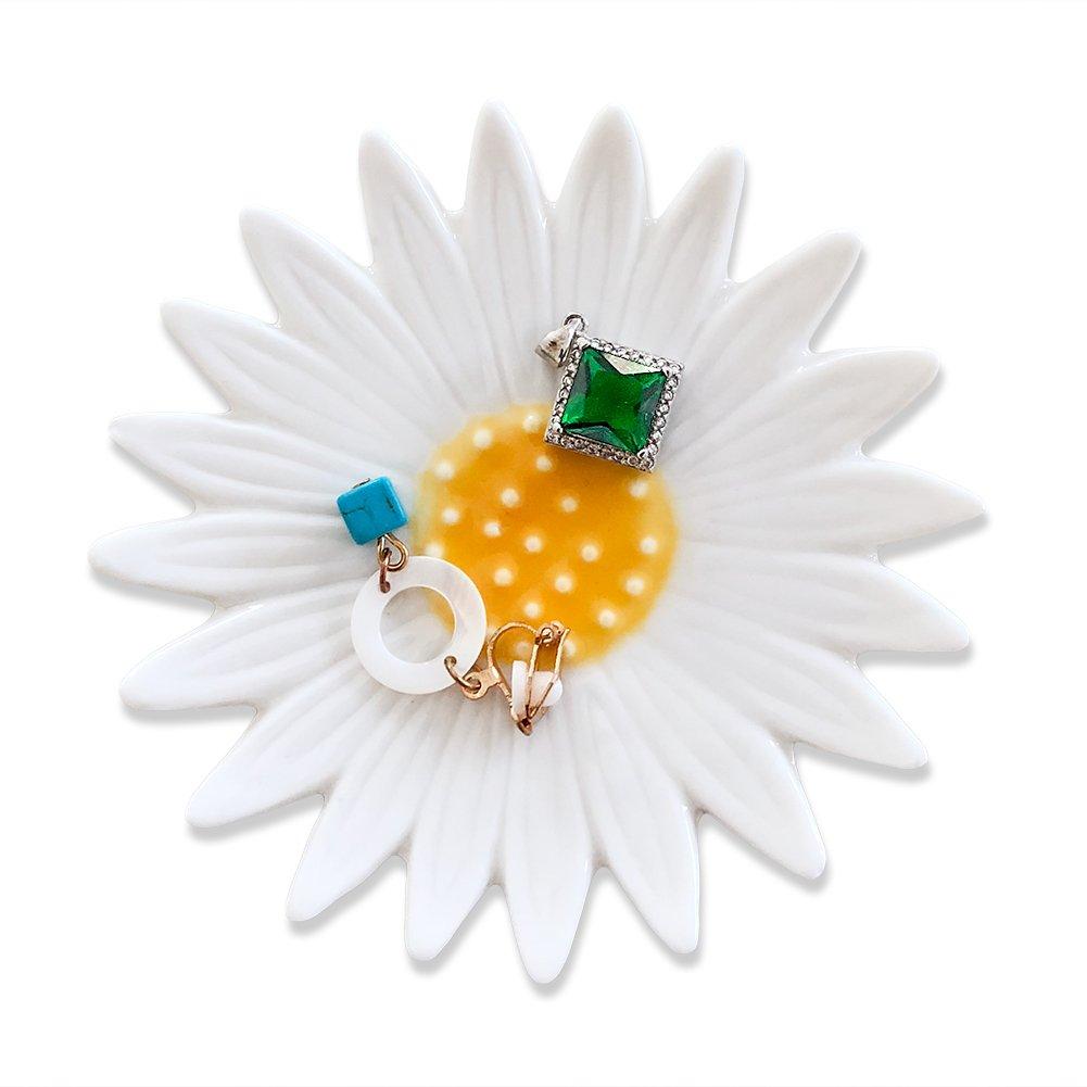 Hand Trinket Dish Holder Decorative Palm Dish Engagament Wedding Birthday Gifts,Blue Jewelry Holder Dish