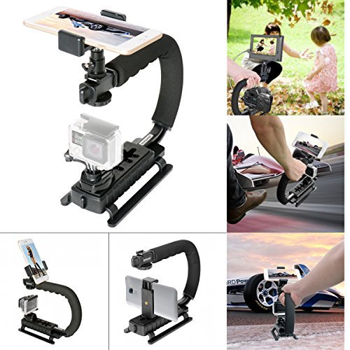 Fantaseal Smartphone stabilizer Cellphone Low Position C-Shaped Rig Stabilizer Shooting System Camera Stabilizer for Samsung Galaxy J7 S8 S7 edge S6 S5 Note 5/4/3 Stabilizer Holder Stand Support