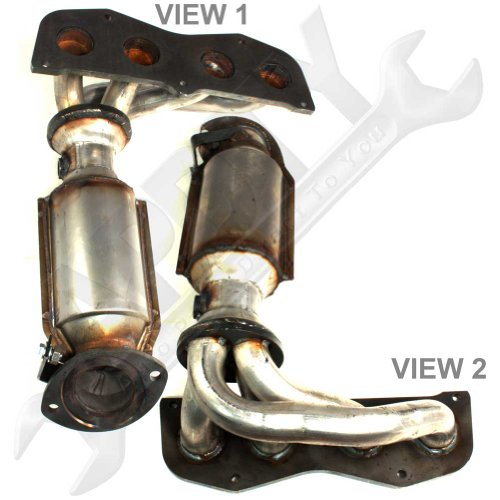 APDTY 25051-0H011 Exhaust Manifold (Tubular Header Style) With Catalytic Converter Fits 2002-2006 Toyota Camry 2.4L 2002-2008 Toyota Solara w/2.4L (4-Cylinder Only; Not Legal In California)