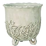 Selectives Lovely Ceramic Planter, 10-Inch, Ivory