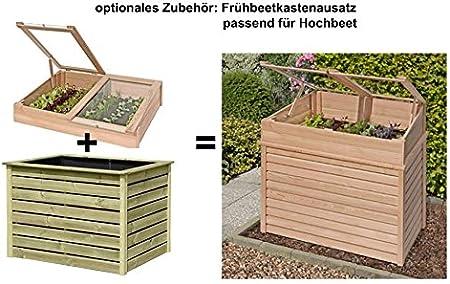 Hochbeet aus Holz Lärche 125 x 85 x 80 cm für Garten Gartenpirat