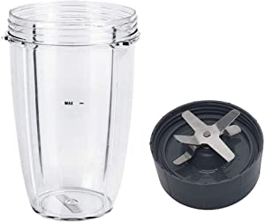 PTINBG Blender Replacement Parts for Nutribullet Blender, 24oz Cups with Replacement Extractor Blade Compatible with Nutribullet 600W/900W Models (24oz)