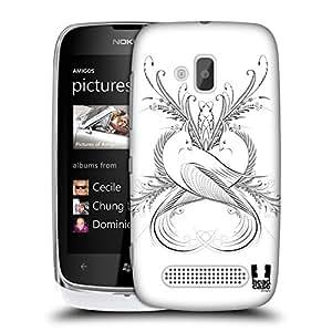 Head Case Designs Doves Flourishing Calligraphy Hard Back Case Cover for Nokia Lumia 610