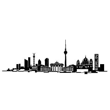 Wandtattoo Berlin Skyline (schwarz, 177.5 Cm X 60 Cm)