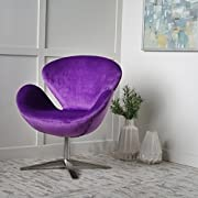 Manhattan New Velvet Contour Swan Swivel Chair
