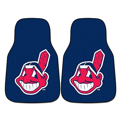 FANMATS MLB Cleveland Indians Nylon Face Carpet Car Mat (Cleveland Indians Mlb Floor Mats)