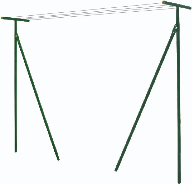 étendoir Linge Extérieur Capacité 60m 60m De Cordes Nylon Fournies Potences En Acier Laqué Epoxy Vert