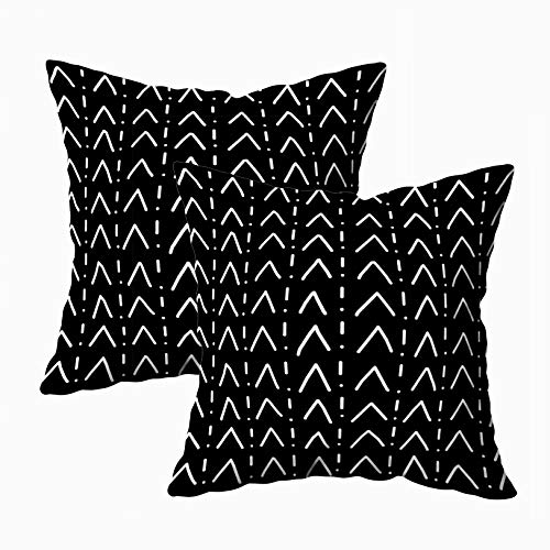 HerysTa Christmas Home Decorative Cotton Pillowcase 16X16inch(40X40cm) Invisible Zipper Cushion Cases White Summer Basketweave Pattern Square Pillow Case Cover for Sofa or Bed Decor