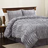 Lush Decor Venetian 4-Piece Comforter Set, King, Silver