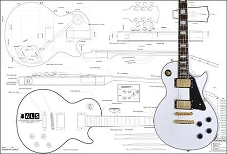 Plan de Gibson Les Paul personalizado guitarra eléctrica – escala ...