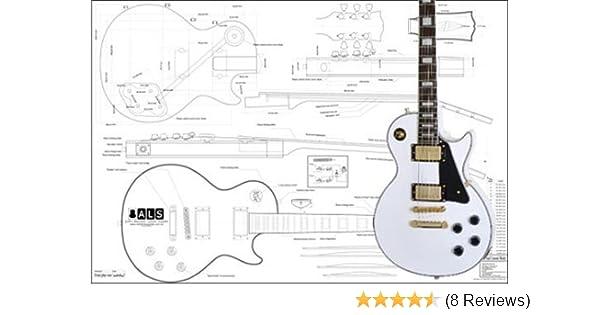 [SCHEMATICS_49CH]  Amazon.com: Plan of Gibson Les Paul Custom Electric Guitar - Full Scale  Print: Musical Instruments | Custom Electric Guitar Wiring Diagrams |  | Amazon.com