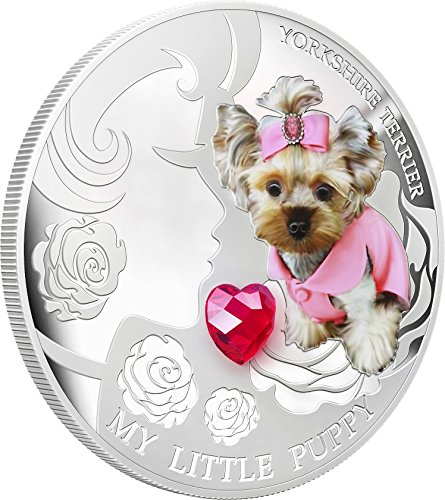 2013 Fiji - Dogs & Cats - Release 1 - My Little Puppy - Yorkshire Terrier - 1oz - Silver Coin - $2 Uncirculated ()