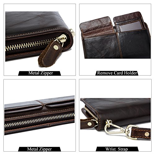 9020coffee Leather Wallets Wallets Bag Wallets Clutch Phone Holder Clutch Men Card wxPnv