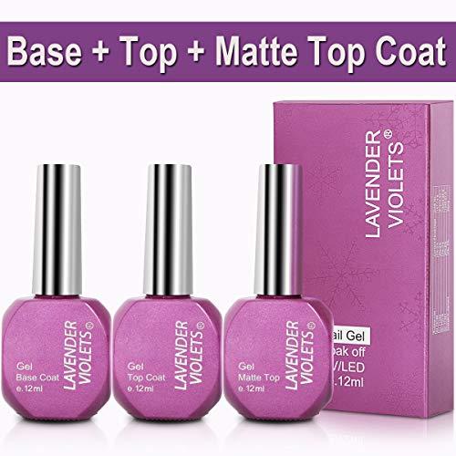 - No Wipe Gel Top Coat n Base Coat n Matte Top Coat Set 12ml/0.4 Oz F807