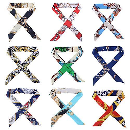 9 pairs 18pcs Fashion Lady Girls Bag Handbag Handle Ribbon Scarf Package Band Hair head band Mother's Day gift ()