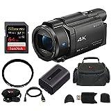 ony FDR-AX53 UHD 4K Handycam Camcorder w/ 64GB Accessory Bundle