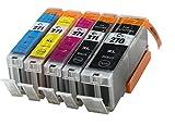 5 Pack Shermad Ink Cartridges for Canon PGI-270XL CLI-271XL 1 Black,1 Cyan,1 Magenta,1 Yellow,1 Big BK Printer Pixma MG7720,MG6820,MG6821,MG6822,MG5720,MG5722,MG5721 271 270 XL a