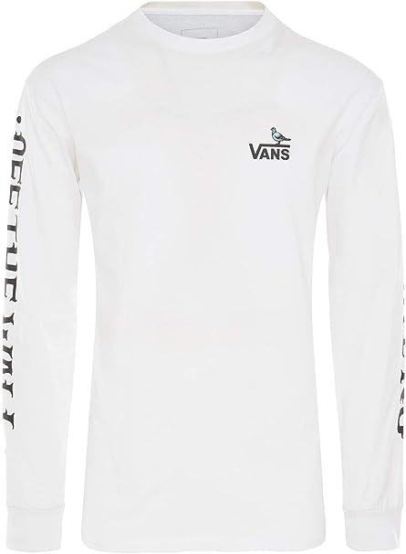 Shop den Vans Logo Langarmshirt Herren in White | JD Sports
