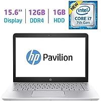 HP 15.6?? FHD IPS WLED-backlit (1920x1080) Display Laptop PC (2018 Model), Intel i7-7500U 2.7GHz, 12GB DDR4 RAM, 1TB HDD, Bluetooth, Backlit Keyboard, B&O Play, HDMI, WiFi, Webcam, Windows 10