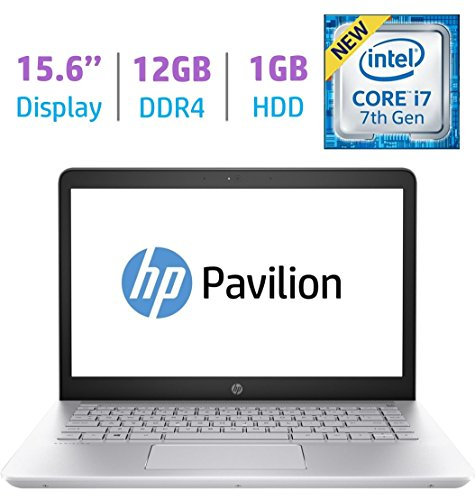 HP 15.6?? FHD IPS WLED-backlit (1920x1080) Display Laptop PC (2018 Model), Intel i7-7500U 2.7GHz, 12GB DDR4 RAM, 1TB HDD, Bluetooth, Backlit Keyboard, B&O Play, HDMI, WiFi, Webcam, Windows 10 (Hp Envy Touchsmart 15 Notebook Pc)