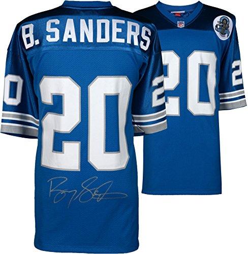 Detroit Lions Autographed Blue Jersey - Barry Sanders Detroit Lions Autographed Blue Mitchell & Ness Authentic Jersey - Fanatics Authentic Certified