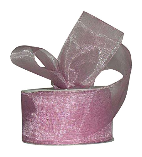Ribbon Bazaar Sheer Organza 1-1/2 inch Mauve 25 Yards 100% Nylon Ribbon