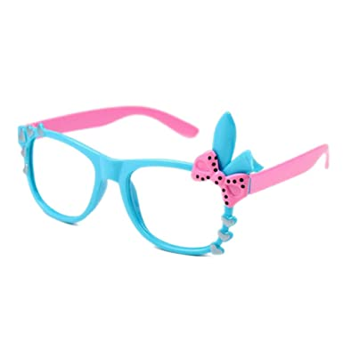 a038314dc3 Kids Bunny Heart Bow Glasses Frame - Children Eyeglasses Geek Nerd Retro  Reading Eyewear No Lenses for Girls - Juleya  Amazon.co.uk  Clothing