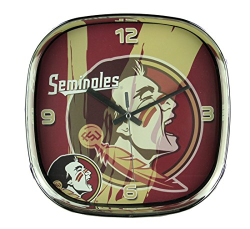 - The Memory Company Plastic Wall Clocks Florida State University Seminoles Glass Face Wall Clock Chrome Finished Frame 11.5 X 11.5 X 2 Inches Red