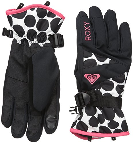 Roxy Snow Junior's Jetty Printed Snow Gloves, Irregular Dots, M