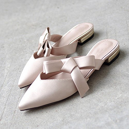Romaine Pantoufle Muler Chaussures D'Été Nu Baotou Arc Usure Chaussures Plates Pointu NSX Fée q4fwxFptq