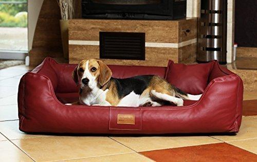 04 Bordeaux tierlando Orthopedic Dog Bed Maddox Ortho Visco Leatherette Dog Bed 04 Bordeaux, MO5   Gr. XL +   120 cm