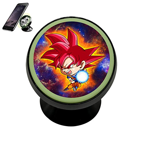 Universal Chibi Dragon Goku Magnetic Car Vehicle Mobile Phone Bracket 360 With Noctilucent Function (Fusion Dragon Ball)
