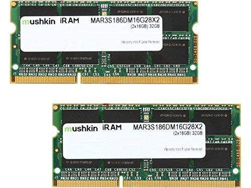 Price comparison product image Mushkin iRAM MAR3S186DM16G28X2 PC3L-14900 2Rx8 SODIMM 32GB(2x16GB) DDR3 SODIMM