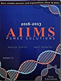img - for AIIMS PGMEE SOLUTIONS VOL-1A VOL-1B (2016-2013) book / textbook / text book