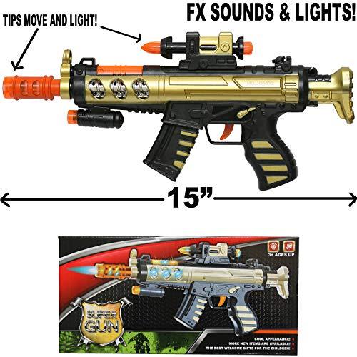 Machine Guns Assault (Machine Gun Toy SWAT Rifle Assault FX Sounds Lights & Vibration)