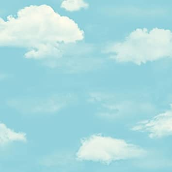 Amazon.com: blue sky and white clouds wallpaper/Sweet kids room ...