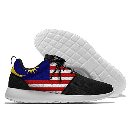 Flag Of Malaysia Fashion Comfortable Sports Running Shoes Leisure Sport Shoes For Men