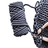 Chunky Yarn Chunky Merino Wool Yarn Super Soft Washable Super Bulky Giant Wool Yarn for Extreme Arm Knitting DIY Throw Sofa Bed Blanket Pillow Pet Bed and Bed Fence (5kg(11lbs), Dark Grey)