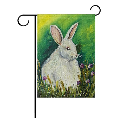 ALAZA Easter Bunny Rabbit Painting Garden Flag 28 X 40 Inch