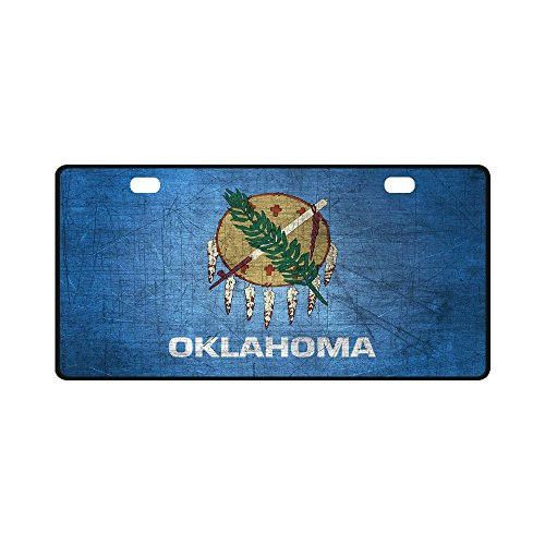 Oklahoma State Flag Pattern Metal License Plate Auto Car Tag 11.8