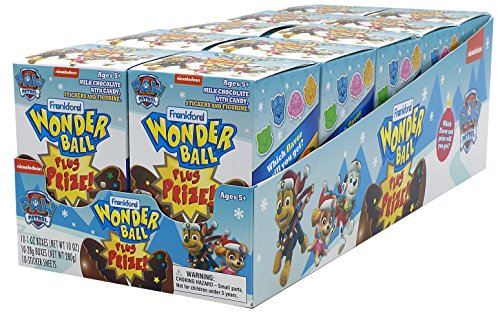 Chocolate Paws Milk - Frankford Candy Company Wonder Ball with Prize Paw Patrol, Milk Chocolate, 4.2 Ounce (Pack of 10)