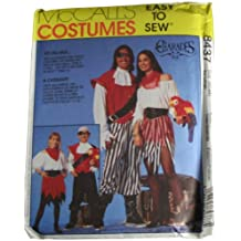 8437 McCalls Sewing Pattern UNCUT Adult Mens Misses Halloween Costume Pirate Sea Wench Size Extra Large