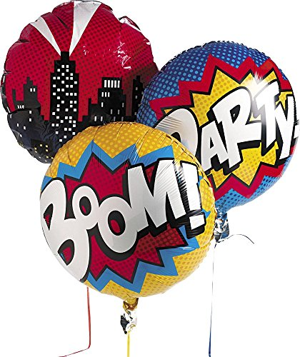 Superhero Mylar Balloon Set Comic Party