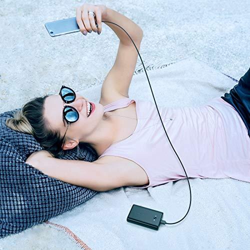 Powerbank 15000mAh, POWERADD EnergyCell Neo Externer Akku, Quick Charge Schnellladefunktion Tragbares Ladegerät für Handy, iPhone, iPad, Samsung Galaxy Huawei und Andere Smartphones - Schwarz