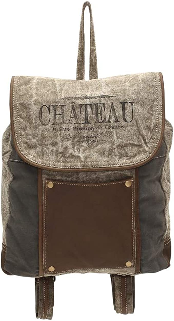 Amazon Com Myra Bags The Chateau Upcycled Canvas Leather Pocket Backpack Bag S 1004 Clothing ✯ free shipping ✯ cod. myra bags the chateau upcycled canvas leather pocket backpack bag s 1004
